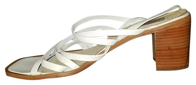 Guess By Marciano White Vintage Strappy Sandals Pumps Size US 9.5 Regular (M, B) Guess By Marciano White Vintage Strappy Sandals Pumps Size US 9.5 Regular (M, B) Image 1