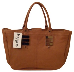 Hype Leather Tote in Brown