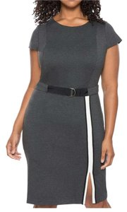 The Limited short dress Charcoal grey w/ white trim on Tradesy