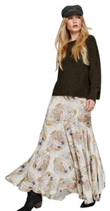 Free People Maxi Skirt neutral combo