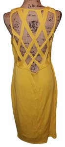 VENUS short dress Yellow on Tradesy