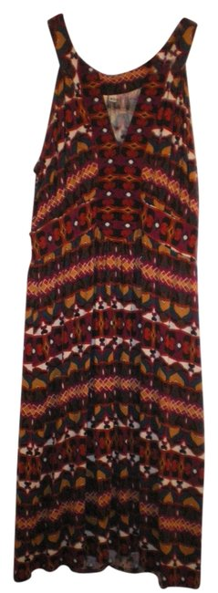 Anthropologie short dress Maroon Patterned on Tradesy