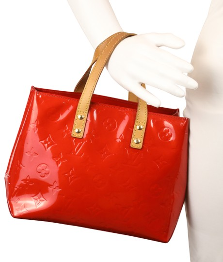 Louis Vuitton Vintage Satchel in Red Image 11