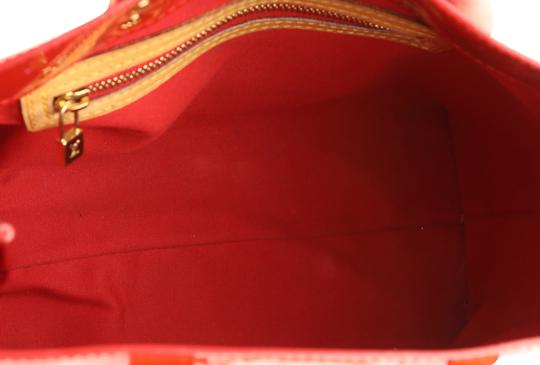 Louis Vuitton Vintage Satchel in Red Image 7