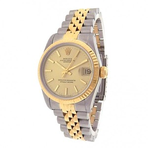 Rolex Rolex Datejust 68273 Stainless Steel 18k Yellow Gold Jubilee Automatic