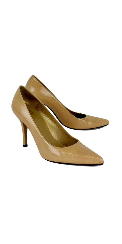 Stuart Pointed Weitzman Nude Patent Leather Pointed Stuart Pumps 9567b1