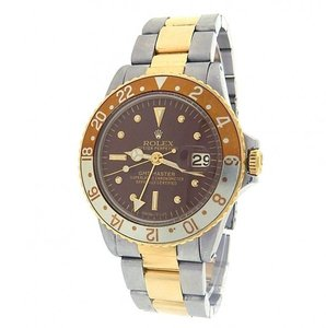 Rolex Rolex GMT Master 1675 Stainless Steel Yellow Gold Two Tone Rootbeer
