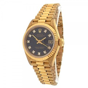 Rolex Rolex Datejust 69178 18k Yellow Gold Diamonds Black Ladies watch