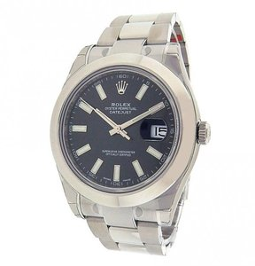Rolex Rolex Datejust II 116300 Stainless Steel Date Automatic Black Men's