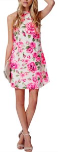Missguided short dress Floral Mini Spring Rose on Tradesy