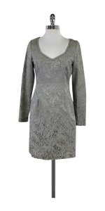 Reiss short dress Grey Animal Print Textured Long Sleeve on Tradesy