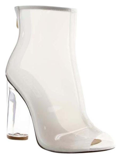 Cape Robbin White Lucite Heels Boots/Booties Size US 8.5 Regular (M, B) Cape Robbin White Lucite Heels Boots/Booties Size US 8.5 Regular (M, B) Image 1
