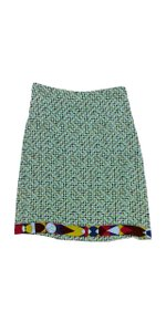 Emilio Pucci Multi Colored Geo Print Silk Skirt