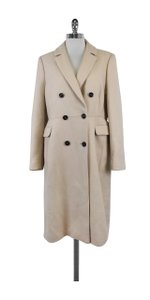 L.K. Bennett Oatmeal Wool Knee Length Coat