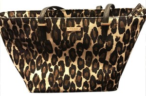 Kate Spade Tote in Black and Tan leopard