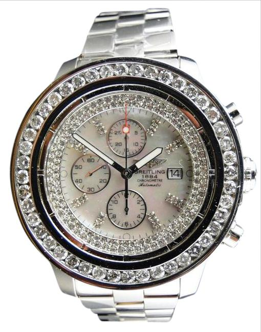 Breitling Stainless Steel Custom Super Avenger 1 Row Big 51 Mm Diamond Ct Watch Breitling Stainless Steel Custom Super Avenger 1 Row Big 51 Mm Diamond Ct Watch Image 1