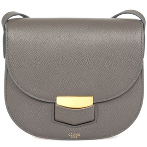 Céline Pebbled Grained Calfskin Leather Cross Body Bag