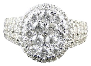 Other 14K White Gold Round Cut Diamond Bridal Engagement Ring 1.7Ct
