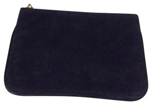 Balmain x H&M Balmain & H&M Suede Black/ Black Leather Cosmetic bag