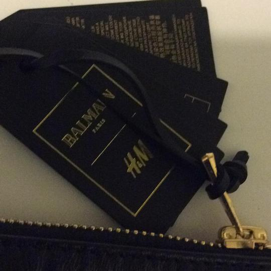 Balmain x H&M Balmain & H&M Suede Black/ Black Leather Cosmetic bag Image 2