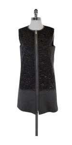 Lafayette 148 New York short dress Grey Textured Wool Zip Shift on Tradesy