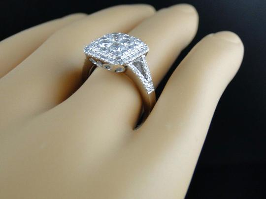 Other 14K White Gold Round Cut Diamond Bridal Engagement Ring 1.23 Ct