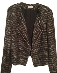 Ann Taylor LOFT New without tags, fabulous tweed collared suit jacket fringe accents