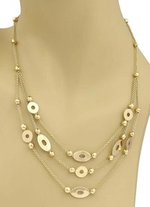 BVLGARI #19182 Bvlgari LUCEA Triple Strand 18k Yellow Gold Necklace