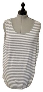 Joan Vass Top grey and white