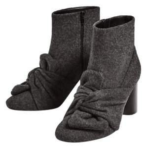 Zara Ankle Bow Gray Boots