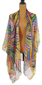 Cocoon House Silk Beach Shrug Scarf Nwot Top Yellow, blue, organg, green,pink,red
