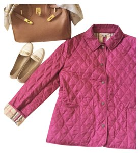 Burberry Quilted Pirmont Magenta Jacket