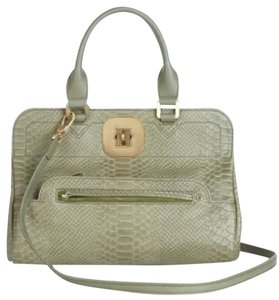 Longchamp Snakeskin Gatsby Satchel in green