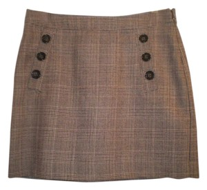 Banana Republic Buttons Double Front Skirt Brown