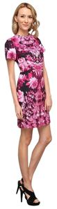 Michael Kors short dress Neon Pink Floral Shift on Tradesy