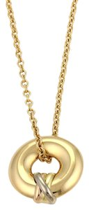 Cartier Cartier Trinity 18k Gold Open Circle Pendant & Chain Necklace