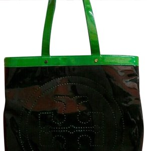 Tory Burch Tote in navy and green