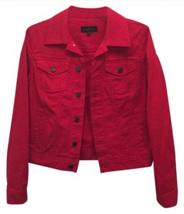 Talbots Red Womens Jean Jacket