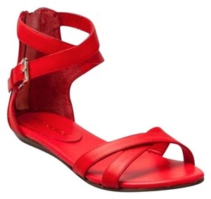 Rebecca Minkoff Sandal Leather Gladiator Chic red Flats