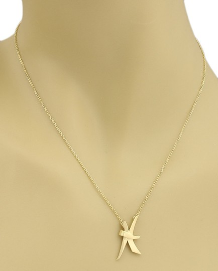 Tiffany & Co. Picasso 18k Yellow Gold Fancy Ribbon Tie Necklace Image 3