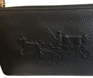 Coach 52500 Embossed Horse L-zip Wristlet in Black