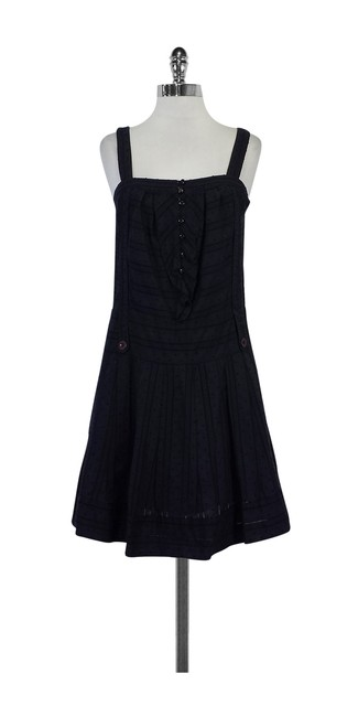 Preload https://img-static.tradesy.com/item/20935596/marc-by-marc-jacobs-navy-dot-textured-short-casual-dress-size-0-xs-0-0-650-650.jpg
