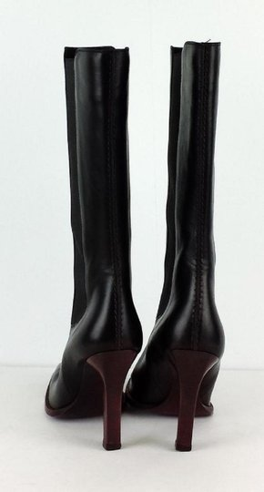 Tod's Purple Leather Black Boots