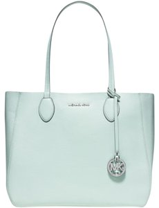 Michael Kors Mae Reversible Silver Leather Tote