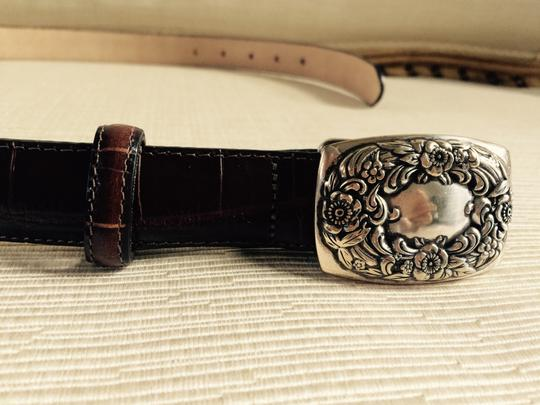 Talbots Leather Belt with Embellished closure buckle Image 1