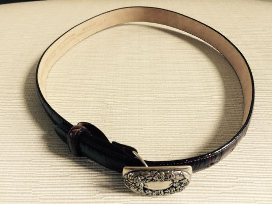 Talbots Leather Belt with Embellished closure buckle Image 2