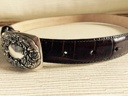 Talbots Leather Belt with Embellished closure buckle Image 3