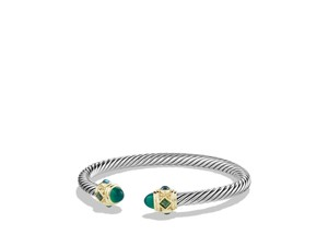 David Yurman Renaissance Bracelet with Green Onyx,Chrome Diopside,Blue Topaz,Gold