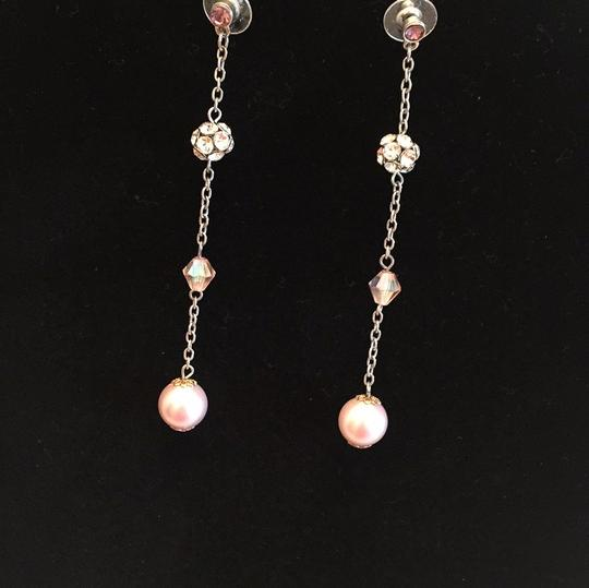pale pink dangle earrings pale pink dangle earrings Image 5