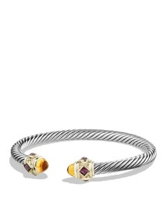 David Yurman Renaissance Bracelet with Citrine, Rhodalite Garnet and 14K Gold, 5mm